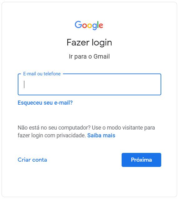 gmail entrar agora